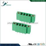 Tipo Pluggable do MERGULHO dos blocos terminais 4pin 90deg com carcaça verde
