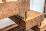 A escadaria de flutuação moderna manufatura/em linha reta a escadaria de vidro com o painel do vidro da escadaria