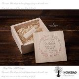 Hongdao que Wedding o _E de madeira do preço de fábrica da caixa de presente da movimentação do flash do USB
