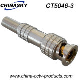 CCTV Male Solderless BNC Connector con Long Metal Boot (CT5046-3)