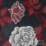 Tissu teint par filé de Chenille de neige de fleur de jacquard pour la maison