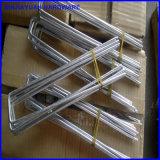 Chevilles de pieu de pelouse de l'horizontal U de chevilles d'agrafe de GAZON en métal Q235
