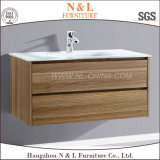 Vanité en bois de salle de bains de forces de défense principale de mélamine de N&L