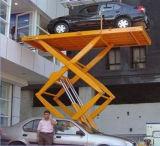 1 2 3 4 Pole-vertikaler anhebender Plattform-Fußboden des Endfußboden-Fahrzeug-Höhenruder-hydraulischer Motorvier, zum des Plattform-Hebers von China auszubreiten