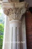Coluna romana da coluna de /Roman das colunas de mármore/cinzeladura de pedra