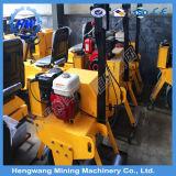 Hengwang 1t/2t/3t/5t 유압 진동 두 배 드럼 쓰레기 압축 분쇄기 도로 롤러