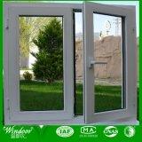 Finestra di vetro Tempered di alluminio di fabbricazione per costruzione