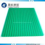 Замороженный зеленый лист полости поликарбоната с 10 летами гарантированности