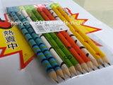 Цветастый карандаш печатание с истирателем шаржа, Sky-015