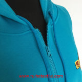 Ricamo Logo, Casual Jacket, Brushed Fleece Zipper Hoodie per Adults