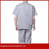 Uniforme court fait sur commande de travail de chemise pour l'été (W234)