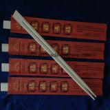 Personalizado mangas rojas impresas desechable bambú palillos