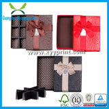 Rectángulo de empaquetado impreso insignia de encargo del corazón del chocolate de papel de la dimensión de una variable con el divisor de papel