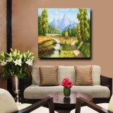 キャンバスの卸し売りハンドメイドの景色の油絵、ハンドメイドのホーム装飾の絵画