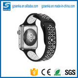 Großverkauf-Schwarzes mit weißem Silikon-Uhrenarmband für Nike-Sport-Apple-Uhr