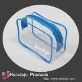Sac cosmétique transparent coloré de PVC avec la tirette