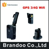A12 4G GPS WiFi Cmsのソフトウェアのボディによって身に着けられているカメラが付いている極度のHDボディカメラ