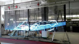 Im Freien wasserdichter transparenter Streifen-Bildschirm der Rasterfeld LED-Bildschirmanzeige-LED für Glasfenster-Gebäude