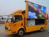 Diodo emissor de luz móvel do indicador ao ar livre profissional da fonte que anuncia o caminhão com estágio Foldable