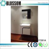 Gabinete de banheiro branco do PVC do revestimento da laca (BLS-17281A)