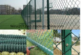 Горячая окунутая гальванизированная временно загородка звена цепи конструкции