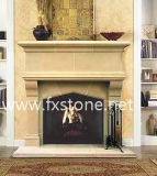 Tallado chimenea de mármol con overmantel / mármol chimenea / chimenea de piedra /