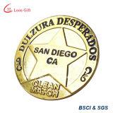 Hierro/moneda de cobre amarillo del recuerdo del oro del metal para el regalo de encargo
