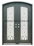 يشبع [رووند توب] بسيطة تصميم [ورووغت يرون] أبواب مع زجاج [لوو-]
