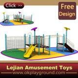 1176 enfants de conception simple plastique en plein air Aire de jeux pour le parc (X1229-4A)