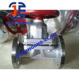 Válvula de diafragma industrial de borracha do aço inoxidável de API/BS/DIN/flange de Wcb