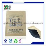 Bolso de empaquetado de Doy del paquete de Kraft del té Gusseted lateral popular del papel