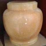 De natuurlijke Witte Marmeren Urnen van de Begraafplaats voor As