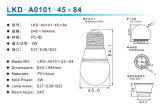 cubierta del bulbo de 3With4W A45 LED (fuente SKD)