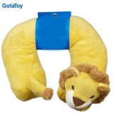 Cojín de encargo de la felpa del animal relleno del cuello del recorrido de la almohadilla suave del juguete cuello