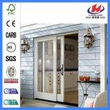 Puertas deslizantes de cristal de madera del armario Louvered interior