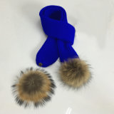 Reeks van de Hoed van de Dekking van de Tik van de Handschoenen van de Sjaal POM Beanie van het Bont POM van de Winter van de Dames van de Jongens van de Meisjes van de Kinderen van vrouwen de Unisex-3PC Echte Lange (SK122S)