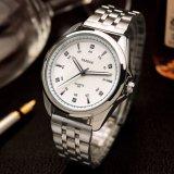 Wristwatch людей высокого качества способа вахты бизнесменов H331-S маштаб стального кристаллический