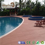 De hete Verkopende Openlucht Aangepaste Antislip Plastic Houten Vloer van het Zwembad WPC