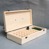 Cadres en bois de compartiment pour la bouteille d'huile essentielle