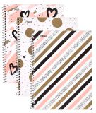 El cuaderno espiral, 1 tema, papel gobernado ancho, 70 hojas, lo trabaja mejor, diseño variará