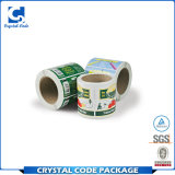 Contrassegno d'imballaggio rotolato impermeabile adesivo su ordinazione dell'autoadesivo