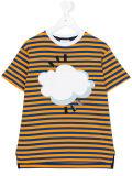 Camisa listrada impressa nuvem de T da menina feita sob encomenda