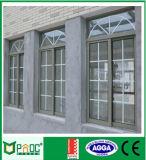 Ventana de desplazamiento de aluminio de Pnoc080806ls con diseño de la parrilla
