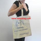 Eco-Friendly мешок холстины хлопка, выдвиженческий мешок Tote (HBCO-47)