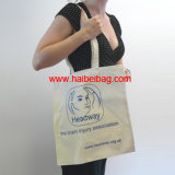 Sac à bandoulière en coton écossais, sac fourre-tout promotionnel, sac à provisions bio (HBCO-47)