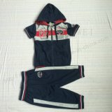 Французские костюмы тела спорта мальчика Терри с застежкой -молнией в одеждах Sq-6236 малышей