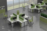 SGS Modern Wooden Office Partition Workstation Office FurnitureによるFsc Certified Approved
