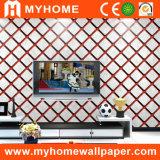 Papier de mur de chambre à coucher de vinyle de PVC avec l'adhésif