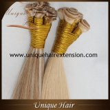 Trama amarrada do cabelo do Virgin mão brasileira