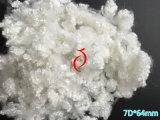 7dx64mm recicl a suficiência conjugada oca da fibra de grampo de poliéster de Siliconized do animal de estimação para o enchimento do urso da peluche